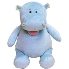 "This Hippo measures 16"" from head to toe and has a removable stuffing pouch to enable personalization. The Cubby has two removable pods from the head and body. $12.95"