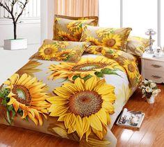 Sunflower Bedding Sets – Kaylee And Tepid Dream Bedroom, Home Bedroom, Bedroom Decor, Bedrooms, Sunflower Room, Sunflower Quilts, Sunflower Jewelry, Bed Spreads, Bedding Sets