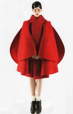 Sleek Bulbous Overcoats : Vogue Japan 'A Cut Above' Editorial
