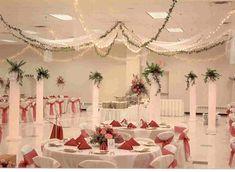 Elegant Wedding Reception Decoration | Wedding Hall Decor – Tulle and Twinkle Lights | Weddings ...