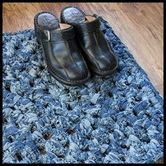 Mat Made From Old Blue Jeans