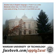 Apply to Warsaw University of Technology