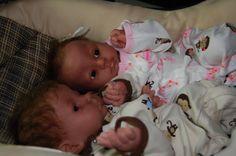 Aidan and Nadia reborn twin baby dolls by EdensLittleOnesDolls, $370.00