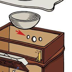 How to Build a Vintage-Look Dresser Vanity Dresser Vanity Bathroom, Bathroom Vanity Makeover, Rustic Bathroom Vanities, Bathroom Furniture, Small Bathroom, Furniture Vanity, Rustic Bathrooms, Chic Bathrooms, Diy Furniture