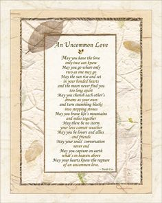 Uncommon Love Wedding Commitment Poem By Terah