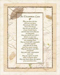 Wedding Poem UNCOMMON LOVE 8x10 Wedding by HeavenandEarthWorks
