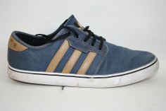 Genuine Fashion Designer  Adidas Mens Shoes Trainers Sneakers 9 UK Jeans Leather