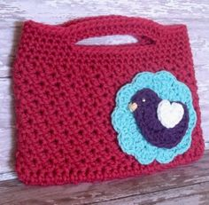 Crochet Spring Bird Handbag Pattern     **note to self - this pattern for hood**