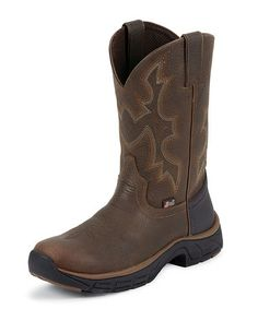 cf0522e3fc8a Take a look at this Pebbled Copper Kettle Stampede Rancher Cowboy Boot -  Men by Justin