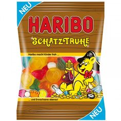 The Haribo treasure chest is a colorful mixture with exotic tastes. It is: pineapple, pomegranate, cactus, mango-maracuja and multifruit. Do not miss this treasure...Net. Wt. 200g (7.1oz)     Shipping Wt. 230gAttention:...