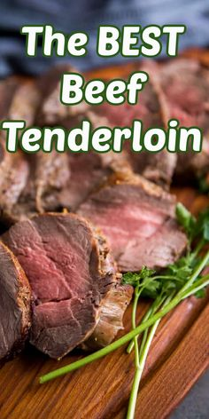 Have you ever wondered how to cook beef tenderloin? It is easier than you might think! This easy roast is juicy and tender. It is the perfect recipe! Grab this recipe along with side dishes and Christmas cookie recipes at lemonsforlulu.com! Roast Recipes, Ground Beef Recipes, Dinner Recipes, Slow Cooker Italian Beef, Slow Cooker Beef, Amazing Recipes, Delicious Recipes, Yummy Food, Holiday Roast Recipe