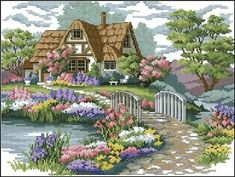 Charming Cottage cross stitch pattern - Cross stitch patterns design collection