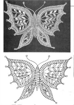 crochet butterfly pattern many different charts for making many diff. types of butterflies. butterfly patterncrochet … BXUDAPV - Her Crochet Crochet Butterfly Pattern, Crochet Motif, Crochet Lace, Crochet Patterns, Russian Crochet, Doilies Crochet, Doily Patterns, Dress Patterns, Lace Embroidery