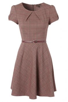 Fever - 50s Erika Dress in Tartan Pink