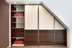 Výsledek obrázku pro vestavěné skříně  do podkrovi se zrcadlem Divider, Stairs, Bar, Furniture, Home Decor, Stairway, Decoration Home, Room Decor, Staircases
