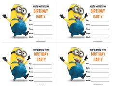 minion birthday invitation despicable me parties pinterest
