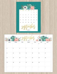 Printable Calendars for a More Floral 2016 - Fresh by FTD