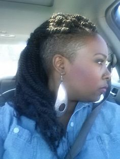 65 Best Shaved Sides Braids Twists Images Hairdos Natural