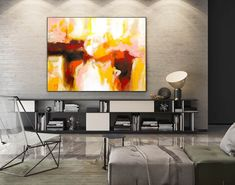 Contemporary Wall Art - Abstract Painting on Canvas, Original Oversize Painting, Extra Large Wall Art Large Abstract Wall Art, Large Artwork, Large Canvas Art, Colorful Wall Art, Extra Large Wall Art, Colorful Paintings, Large Painting, Painting Bathroom Walls, Oversized Canvas Art
