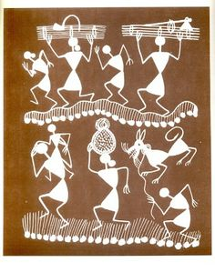 Lifestyle Art and Cultural Heritage of Tribes of India: Warli Paintings: Traditional Folk Art From India (Book on Warli Paintings) Indian Traditional Paintings, Indian Art Paintings, Worli Painting, Painting Styles, Monochromatic Art, Stippling Art, Madhubani Art, Indian Folk Art, India Art
