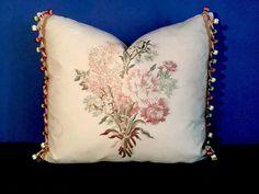 "Scalamandre ""Vermeer's Bouquet"" w Buddy French Trim Pillow | eBay"