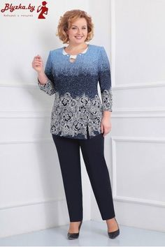 by / Blyzka. Iranian Women Fashion, African Fashion, Blouse Styles, Blouse Designs, Plus Size Dresses, Plus Size Outfits, Office Skirt Outfit, Womens Trendy Tops, Colorful Fashion