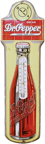 Vintage Dr. Pepper thermometer: