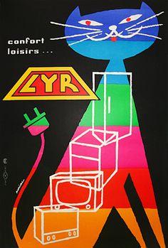 Auriac LYR    Galerie Montmartre:  Original Vintage Posters  Auriac  LYR 1959