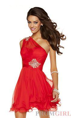 55e2c8076ec Junior Prom One Shoulder Dress by MacDuggal Party Dresses 2014