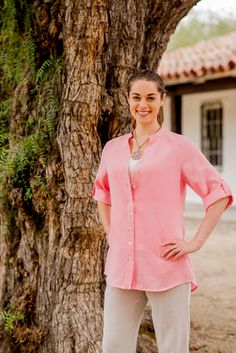 e2f0790b199 Fridaze Annies Linen Shirt (Wrinkle Resistant) - Offered at The Cameleer in  White and