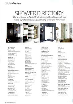 Drummonds listed in shower directory drummonds-uk.com Essential Kitchen Bathroom Bedroom June 2015