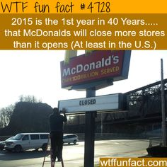 McDonalds to close more stores than it will open this year - WTF...