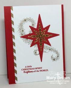 2016  Set(s):Star of Light Paper:Whisper White, Real Red, Neutral dsp Paper Stack, Gold Foil Ink:Real Red, Versamark Other:Star of Light Framelits, Gold Embossing Powder, Dimensionals