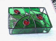 Stained Glass Ladybug Box.