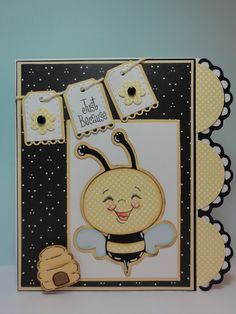 Create a Critter - Bee inspiration for baby/children layout Make a topper or border with the 1/2 circles