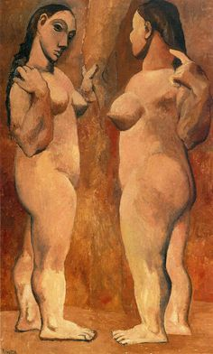 Pablo Picasso, Two Nudes (Paris, late oil on canvas, cm - MoMA, NYC Kunst Picasso, Art Picasso, Picasso Paintings, Henri Matisse, Henri Rousseau, Georges Braque, Figure Painting, Painting & Drawing, Foto Art