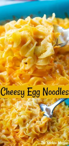 It doesn't get simpler or more delicious than these cheesy egg noodles! Bake egg noodles in a creamy cheese sauce for an easy dinner! Egg Noodle Casserole, Casserole Recipes, Sauce Pizza, Cheese Sauce, Egg Noodle Recipes, Recipes With Pasta Noodles, Chicken And Egg Noodles, Cheesy Eggs, Pasta Sides