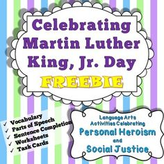 Ten pages of pure content (no ads, no filler), including context clues, vocabulary, and word activities relating to the positive aspects of Martin Luther King, Jr. Day and Black History Month.  The full unit is available here.  72 Task Cards + 8 Quiz/Worksheets with 8-20 Questions each help you cover this important and sensitive subject matter.