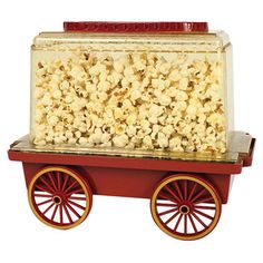 Indulge in your favorite theater snacks with this vintage-inspired popcorn machine, perfect for your next movie-inspired soiree or cozy weeknight in.