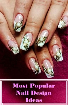 There are so many great nail design ideas around us,today we make a collection of 10 Most Popular Nail Design Ideas for you.We all know nice and neat nails is dream of every woman, and it is a kind… Popular Nail Designs, Most Popular, Design Ideas, Nails, Beauty, Women, Style, Finger Nails, Swag