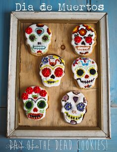 Día de Muertos Day Of the Dead Sugar Cookies