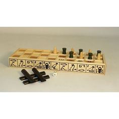 Wood Senet Game