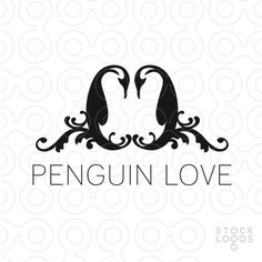 The graceful pair of penguins would be a beautiful mark for a wedding planner or photographer, tux shop, event coordinator, tattoo shop, arts and crafts site, scrapbooking, spa, cosmetic Upon purchase the following revisions are FREE ~ name change ~ tagline addition ~ font changes ~ layout changes ~ color changes