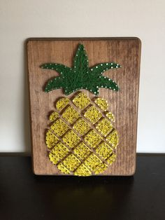 A personal favorite from my Etsy shop https://www.etsy.com/listing/505676228/made-to-order-pineapple-string-art