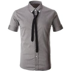 Mens Tailored Dress Shirt with Black Tie Mens Tailored Shorts, Tailored Shirts, Slim Fit Dress Shirts, Shirt Dress, Stylish Men, Men Casual, Mens Designer Shirts, Black Tie, Casual Button Down Shirts