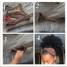 ❤️DIY Infinity Head Bands❤️ I love infinity head bands and wanted to share how easy it is to make them yourself. Step one cut seam of a… Natural Hair Tips, Natural Hair Journey, Natural Hair Styles, Natural Curls, Natural Life, Natural Beauty, Pelo Afro, Scarf Hairstyles, Black Girls Hairstyles