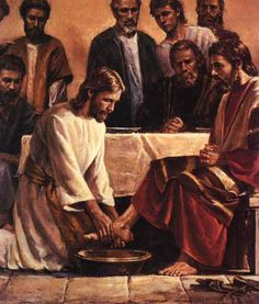 ...Washing his deciples feet...He would have washed yours and mine if we were there!!!!!