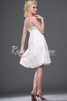 f0444e4e9bb Nouvelle robe cocktail attrayant blanc  ROBECOCKTAIL0103  - €98.56   Robe  de Soirée Pas Cher
