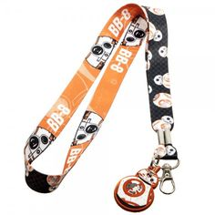 Will surpass as the most popular, adorable robot of the Star Wars universe? Only time will tell. Show your love for the cutest orange-and-white volleyball droid in the galaxy with this r. Lanyard Id Holder, Lanyard Keychain, Keychains, Badge Holders, Star Wars Bb8, Star Wars Droids, Star Wars Quotes, Star Wars Humor, Star Wars Outfits