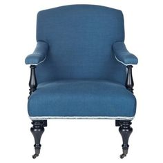 Check out this item at One Kings Lane! Becket Armchair, Denim/White